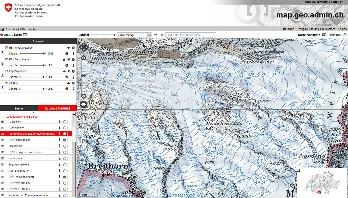 Landkarte Schweiz als Wanderkarte für Wanderrouten oder Velokarte on