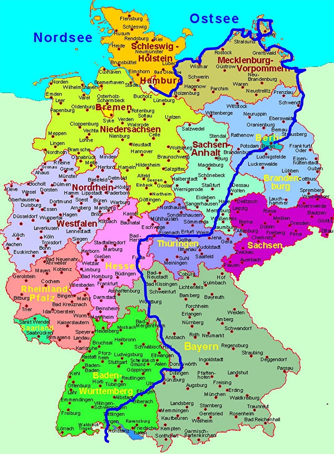 Deutsche Nordseeküste Karte.Ostseeküstenradweg Von Hamburg über Lübeck Entlang Der Ostsee Nach