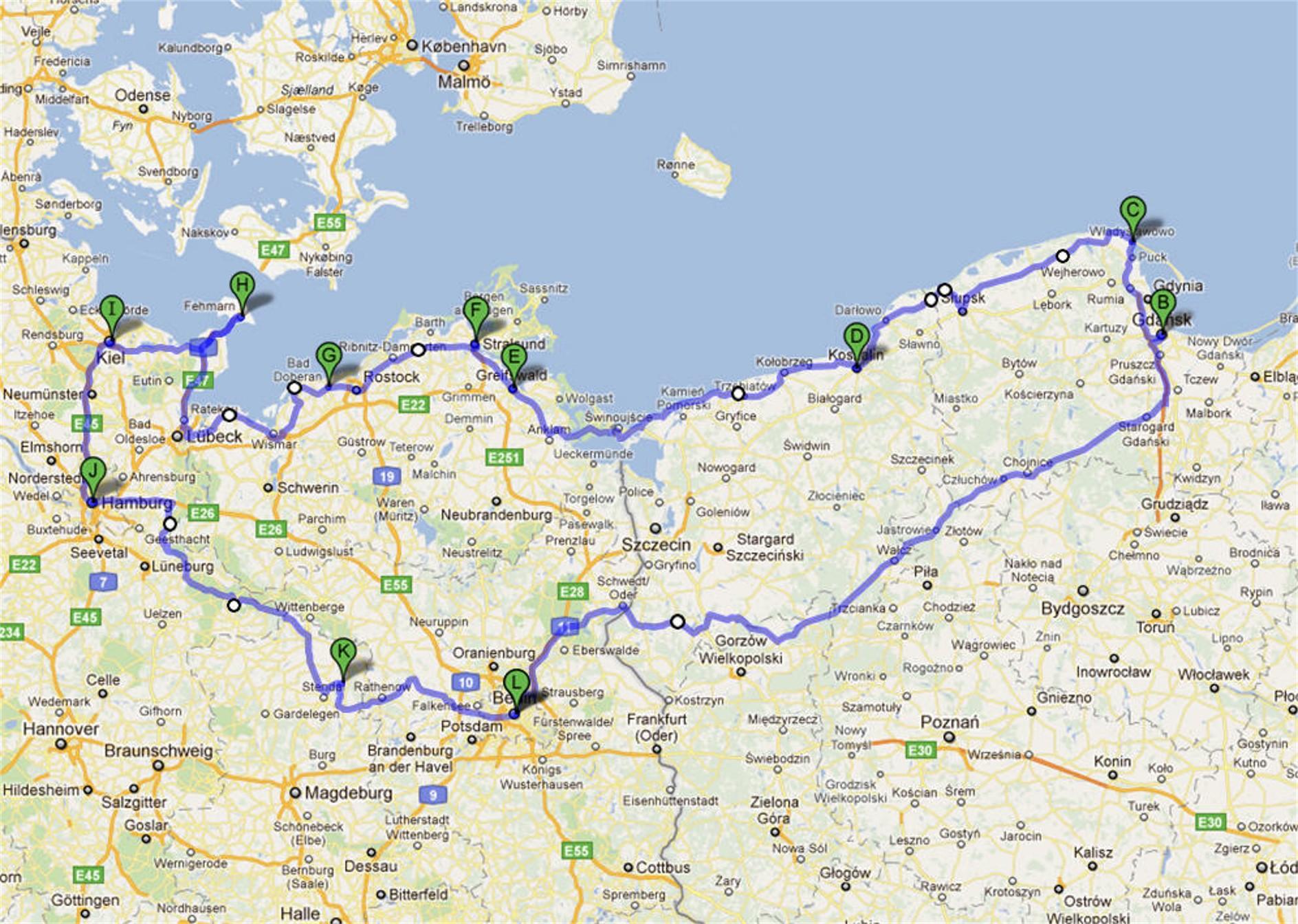 Ostseeradweg Lübeck Stralsund Karte.Nordseeküstenradweg Von Amsterdam Bis Schweden Alles Der